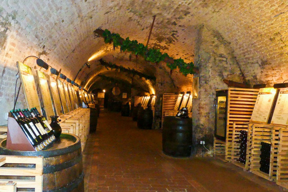 Wine cellars at Valtice date to 1430. Take a tour and do a tasting at the same time.