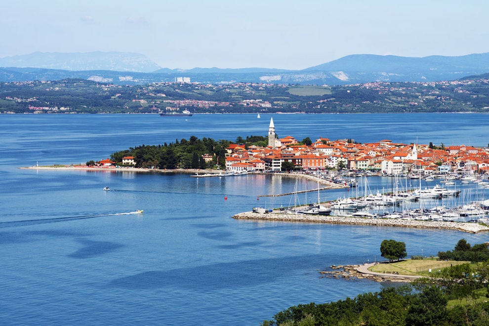 Izola on the coast