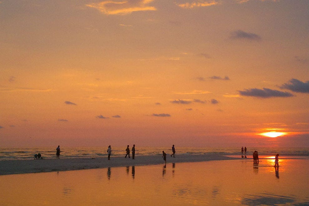 The nightly farewell ceremony for the sun is legendary on the Gulf coast