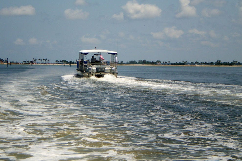 Hop the ferry at the south end for a beautiful ride to Caladesi Island