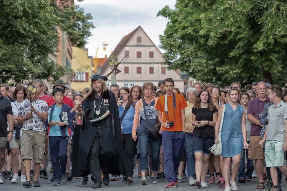 Take a tour of Rothenburg with The Night Watchman
