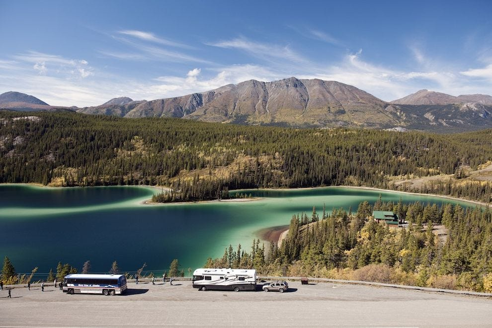 Emerald Lake, along South Klondike Highway, proves one of the Yukon's most photographed spots – and for good reason!