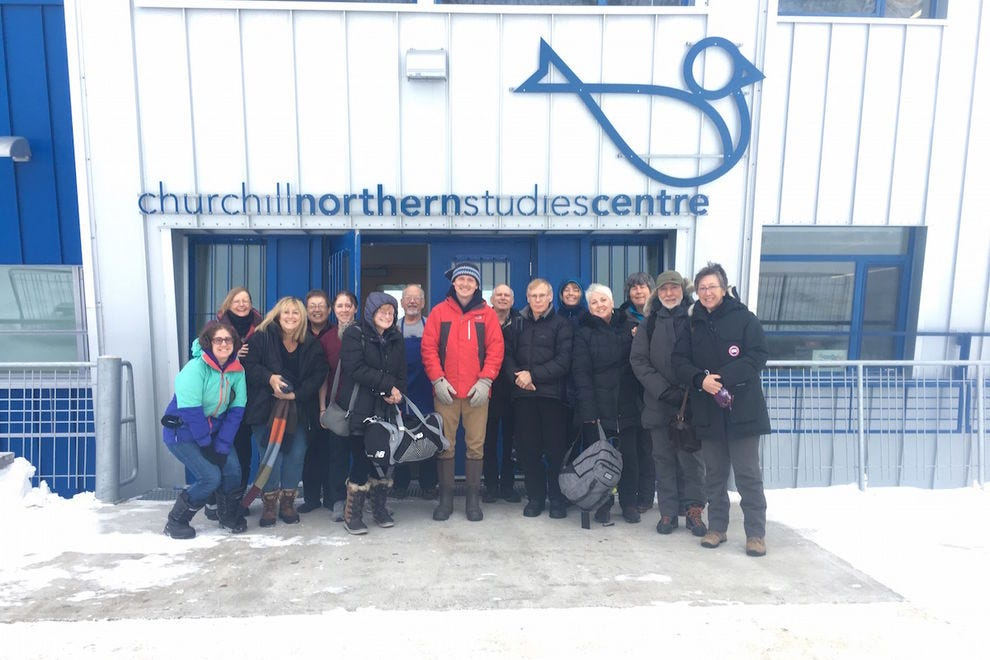 My group at the Churchill Northern Studies Centre