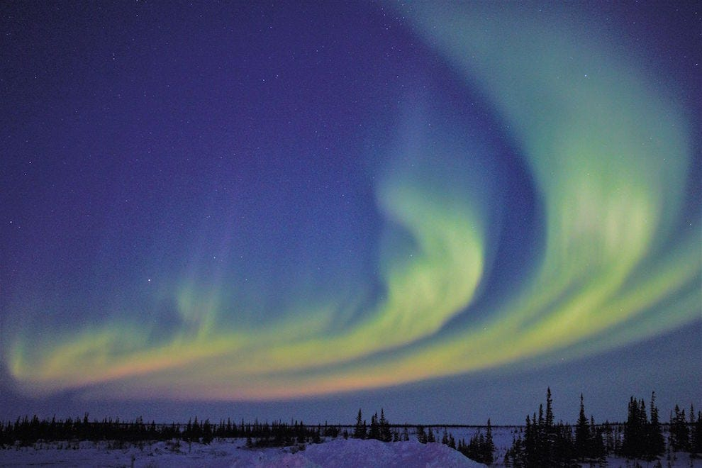 The Northern Lights are a breathtaking sight