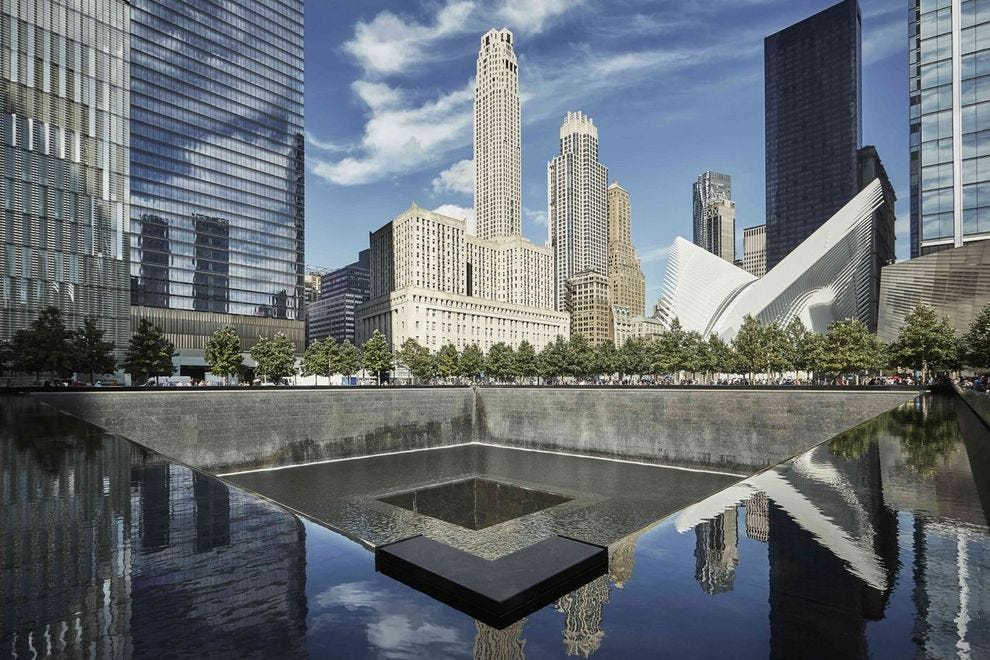 The Four Seasons Downtown overlooks the 9/11 Memorial