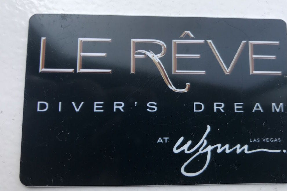 Only Diver's Dream participants earn this highly-coveted card