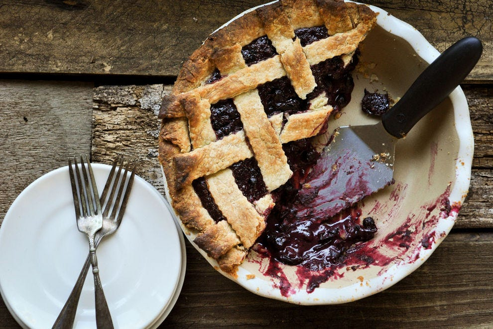 Huckleberry pies are made from wild Montana huckleberries