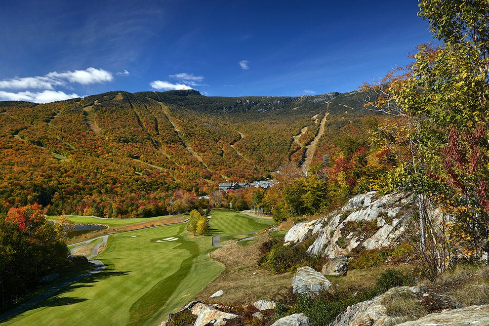 Colorful views like this are why fall is so special in Stowe