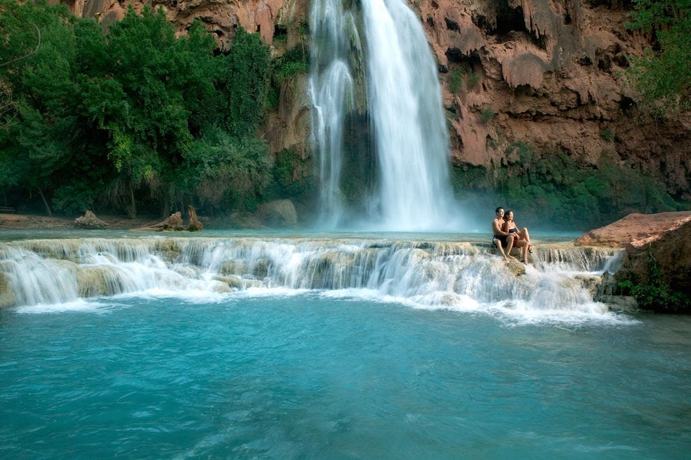 Havasu Falls is a true oasis in the desert