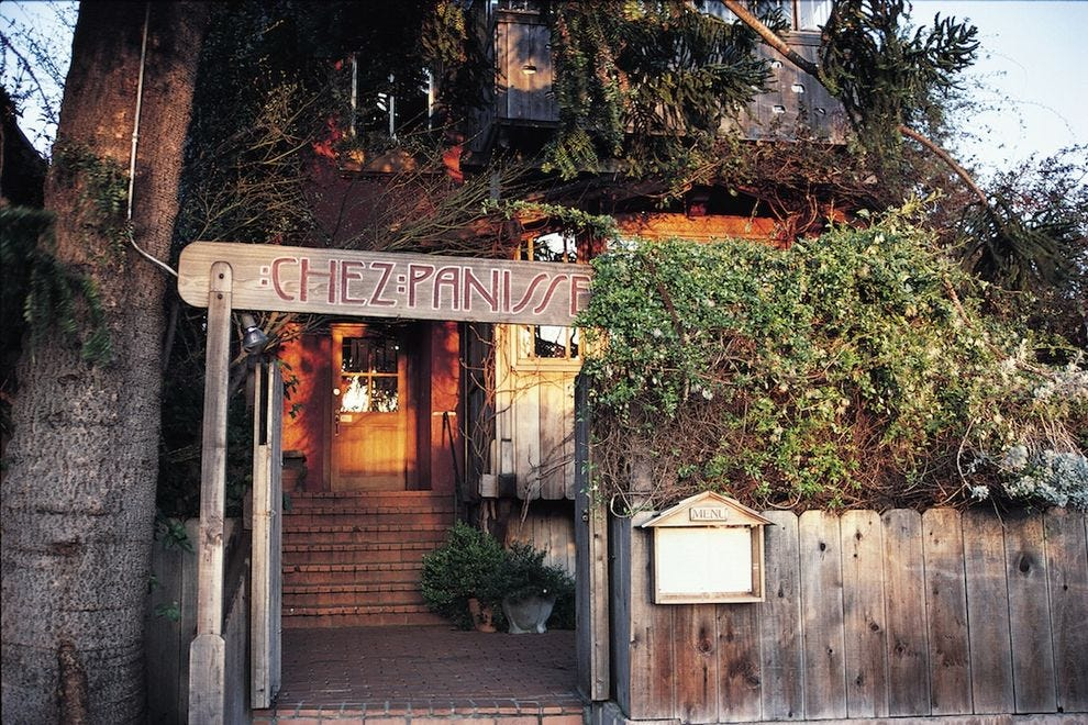 Chez Panisse is considered by many to be the birthplace of California cuisine