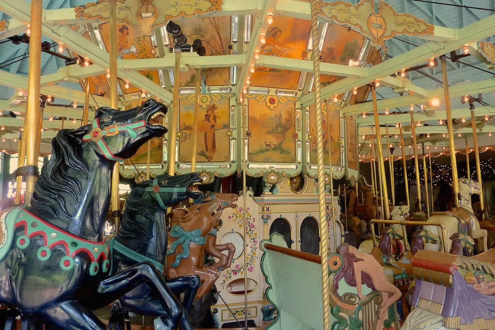 The TIlden Park Merry-Go-Round is one of the few remaining antique carousels in the country