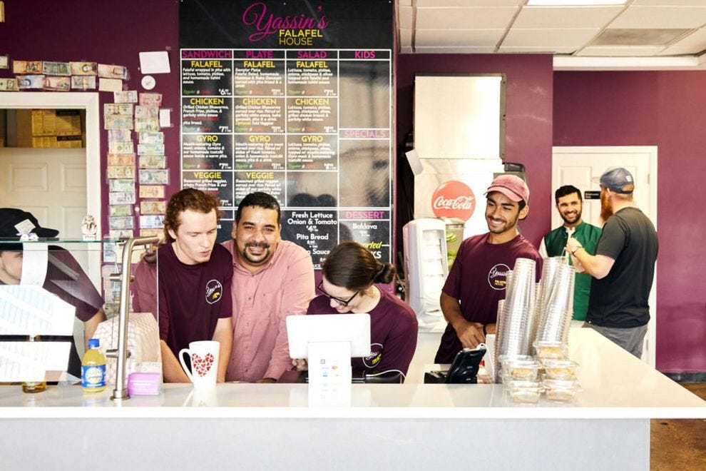 Yassin's Falafel House is dedicated to paying it forward
