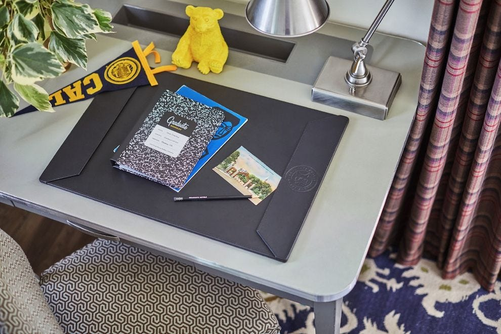 The Graduate Hotel Berkeley celebrates UC Berkeley with a Golden Bear in each guest room