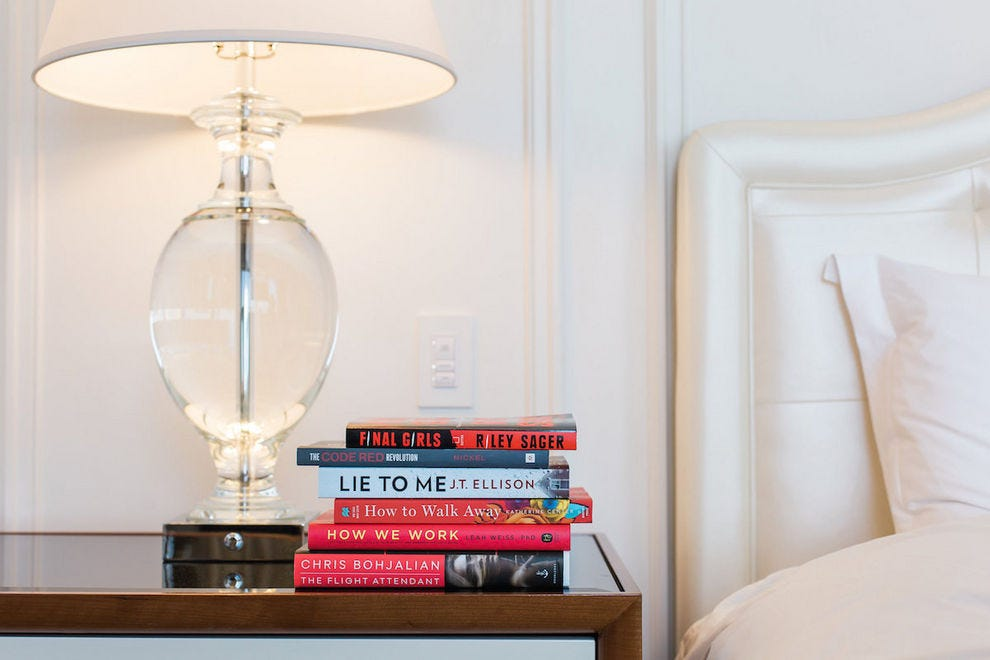 Receive three new books to take home at the Waldorf Astoria Beverly Hills as part of the Bedside Reading program