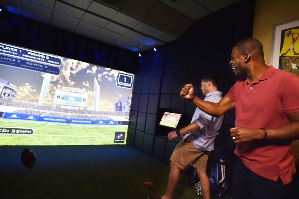 Test your skill on one of the simulators on Goofy's Sports Deck