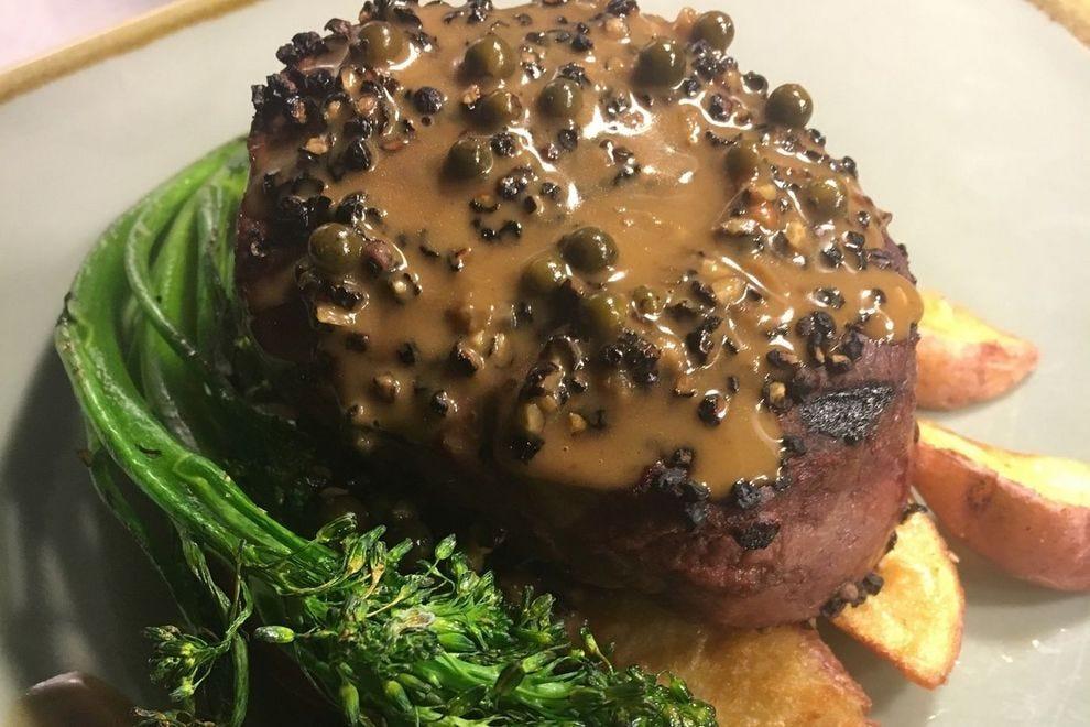 Buffalo steak from Poor Richard's