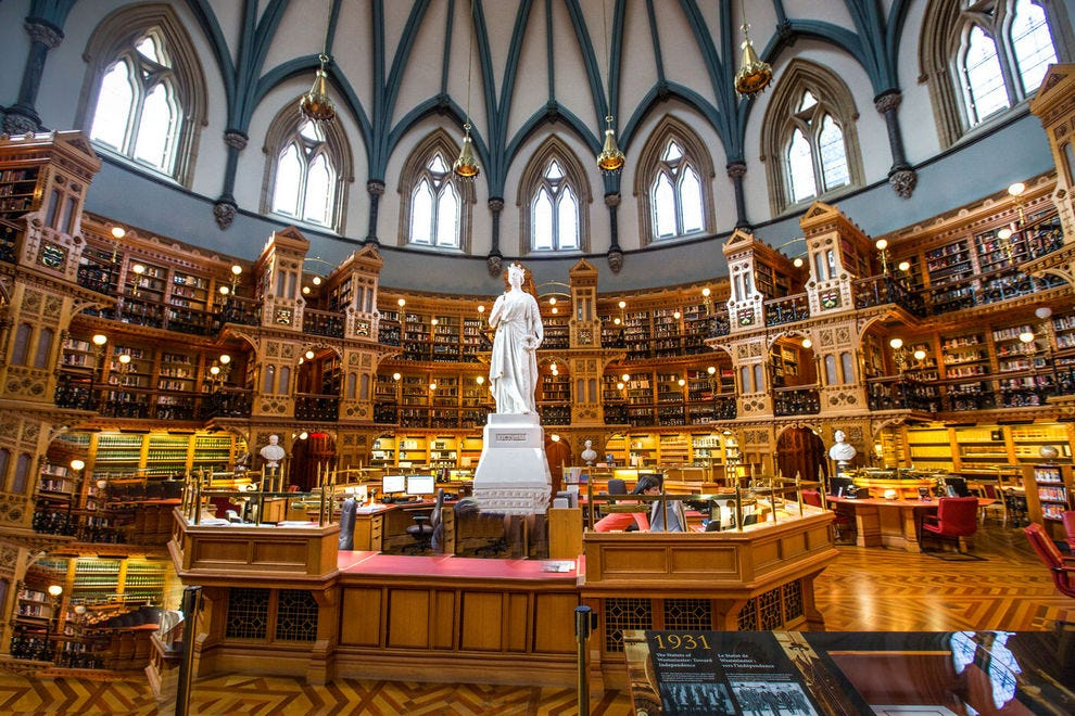 Library of Parliament in Ottawa