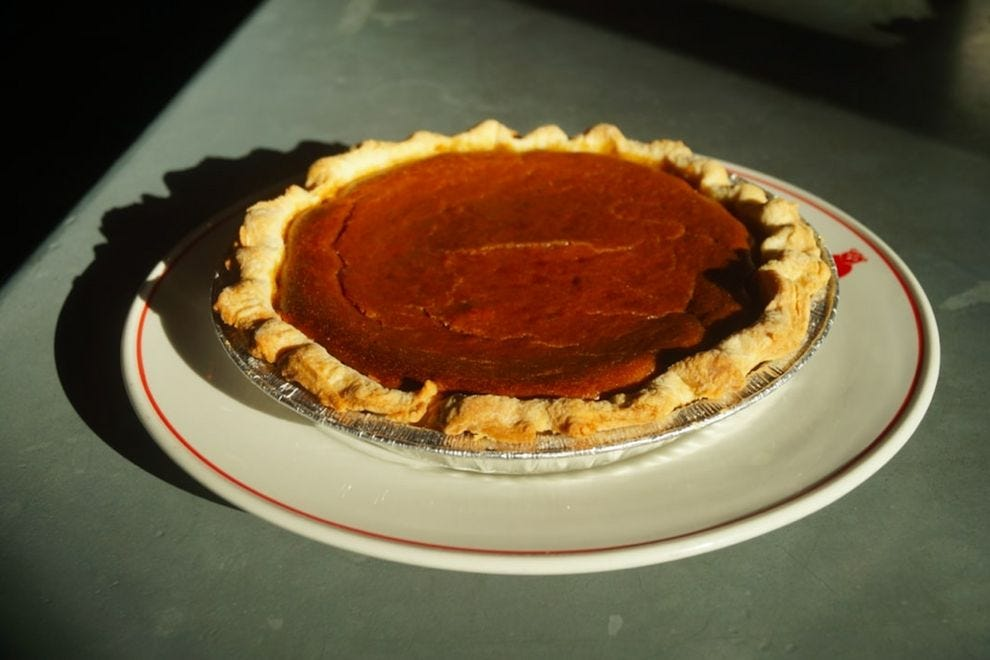 Pumpkin pie at Red Owl Tavern
