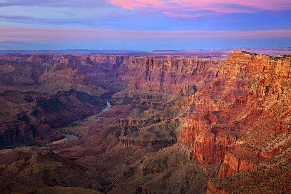 Comanche Point in Grand Canyon at sunset