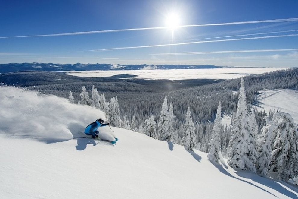 Wintertime visits mean downhill skiing at Big White Ski Resort
