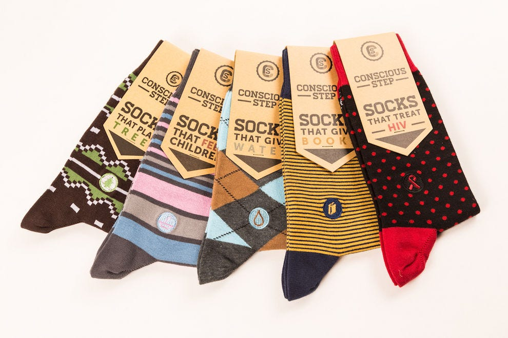 Conscious Socks let you put your best foot forward
