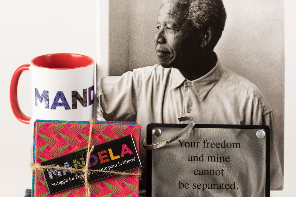 The Museum Boutique features many items honoring Nelson Mandela