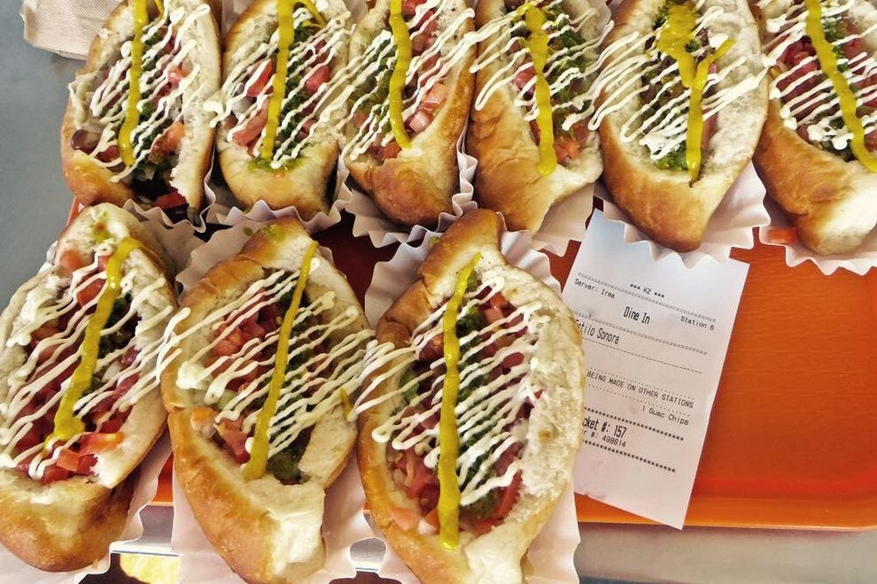 This hot dog is a fusion of cuisines