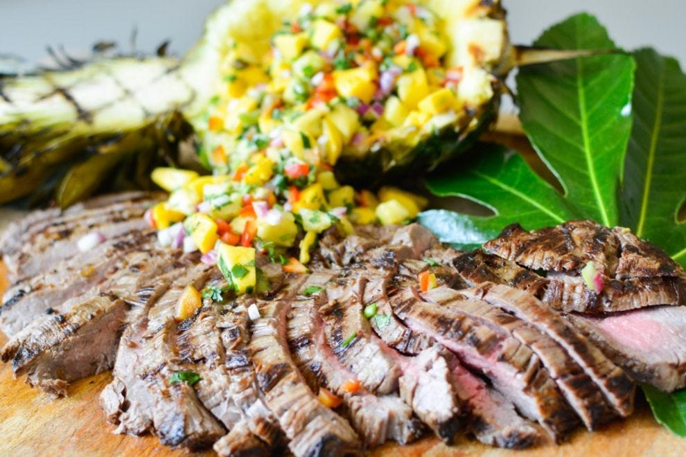Grill a perfectly tender flank steak with this Thai marinade