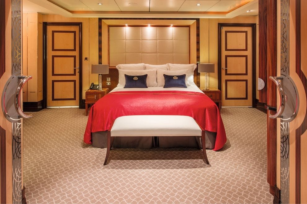 The QM2's Queens Grill duplex suites with balconies and private butlers take luxury to a whole new level