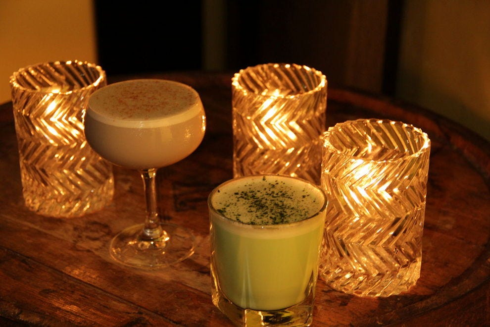 The Raven's Eggnog and Green Eggs and Nog at Peche