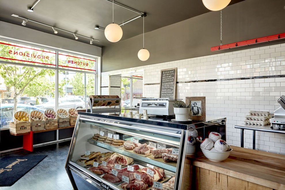 The meat cabinet is a beautiful gallery of locally sourced meats