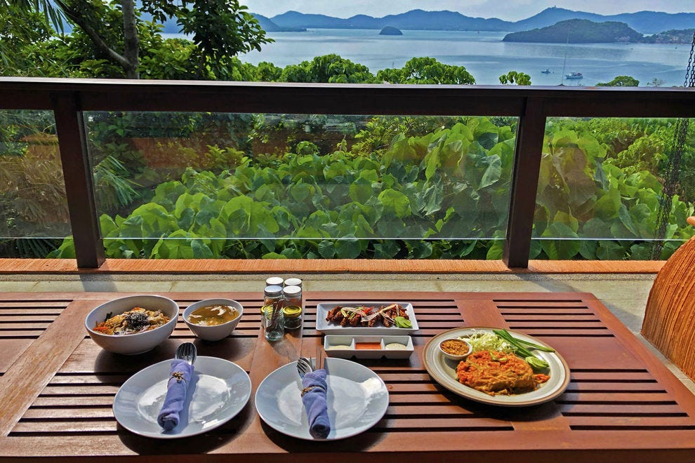 Indulging in a Phuket-style meal with a view