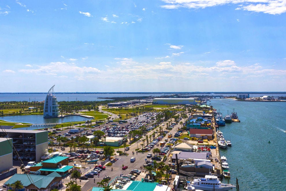 A view of bustling Port Canaveral