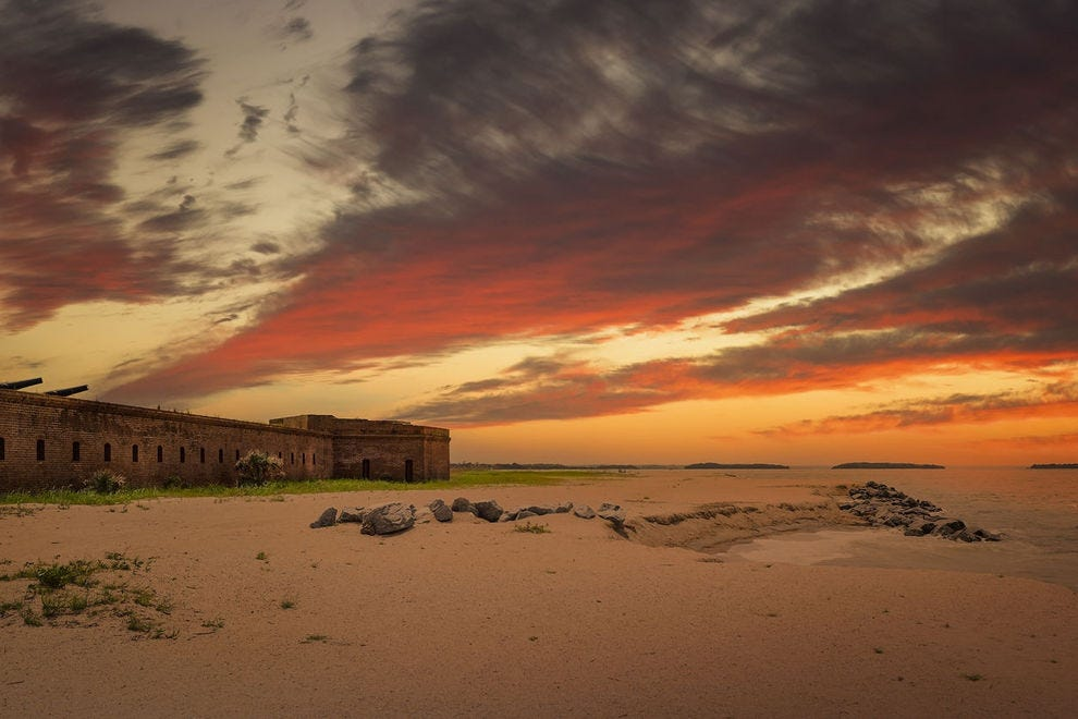 Fort Clinch at sunset