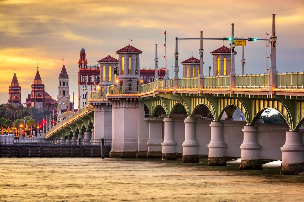 Beautiful Bridge of Lions in St. Augustine