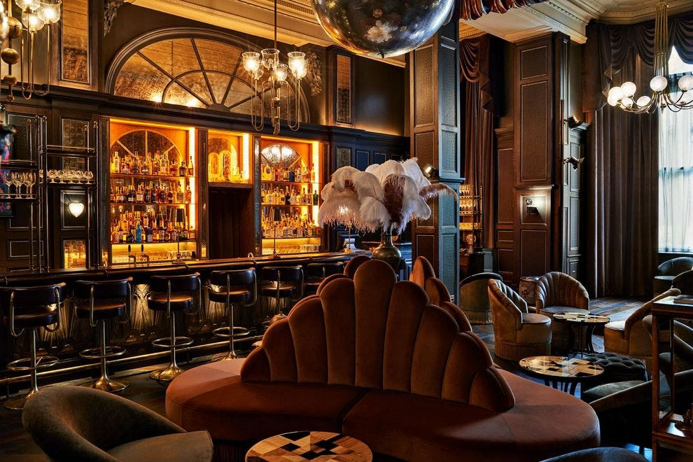 Fitz's inside Kimpton Fitzroy London hotel proves a prime spot for people watching and cocktail sipping