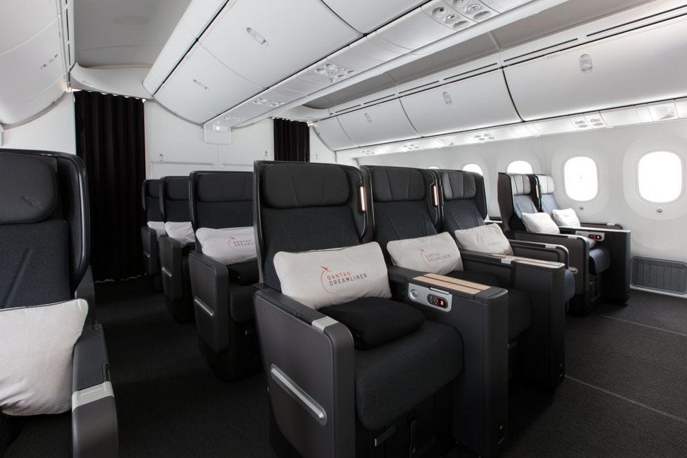 Qantas Premium Economy designed by David Caon