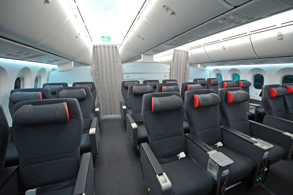 Air Canada's new Premium Economy cabin on the 787 Dreamliner