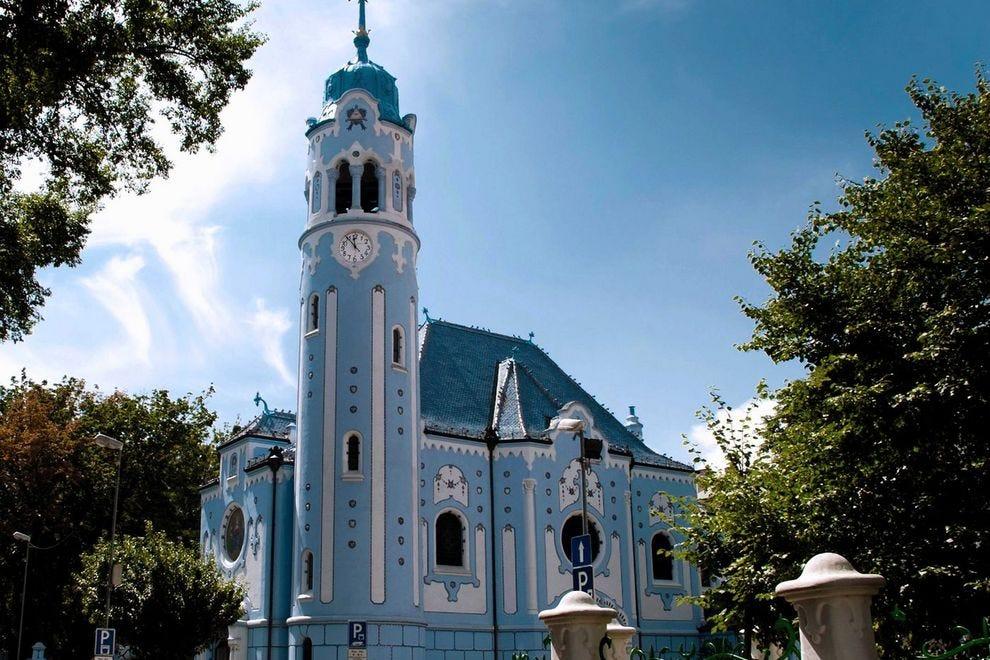 The striking Church of St. Elizabeth