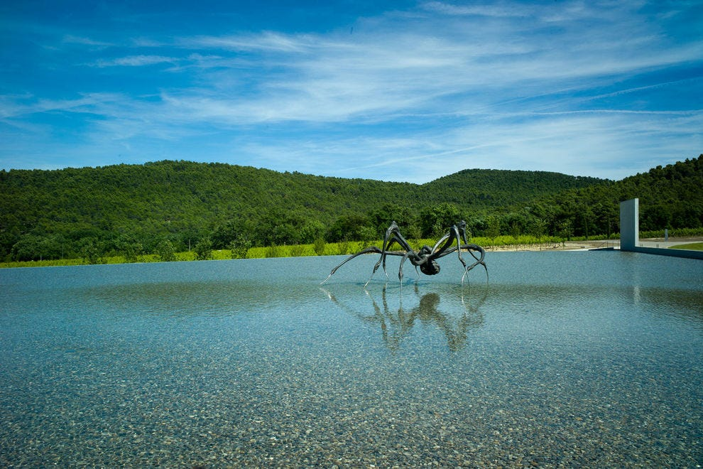 """Louise Bourgeois's """"Crouching Spider"""" looks out over the Château La Coste vineyards"""