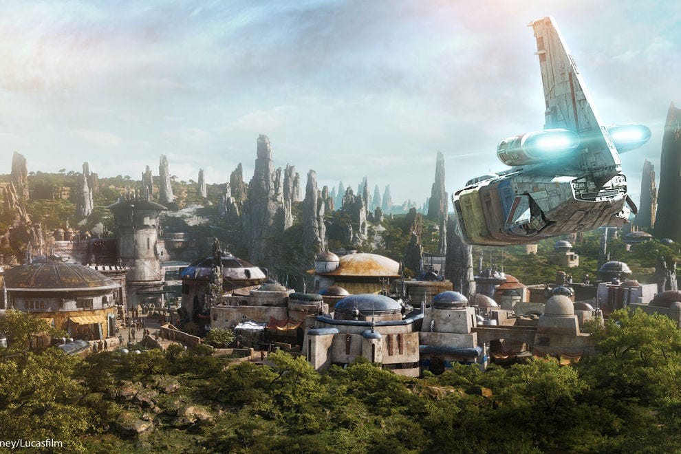 A rendering of the soon-to-open Star Wars Land