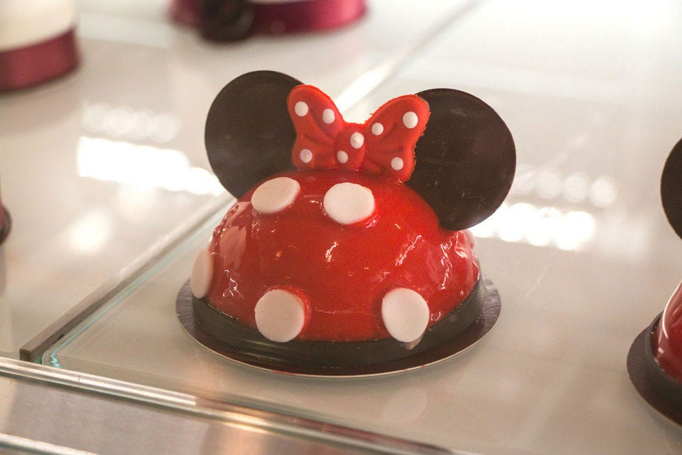 You can watch the chefs decorate these artful signature cakes before enjoying one at Amorette's