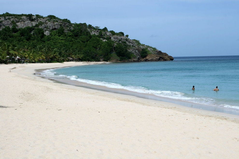 The beach at Galley Bay invites long walks, hand in hand
