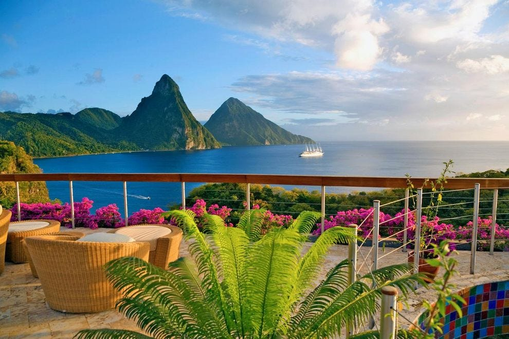 The views alone infuse Jade Mountain with romance