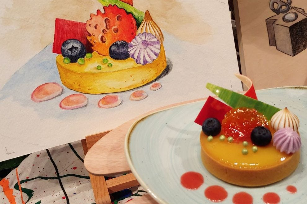 The culinary arts are just one of those celebrated; some dishes, like this lemon-blood orange tart, go from palette to palate!