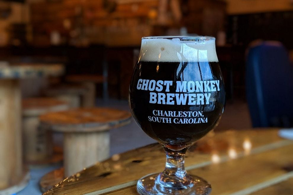 Sip on a Vanilla Thrilla Porter and ask cofounder Josh Parker how the brewery got its name