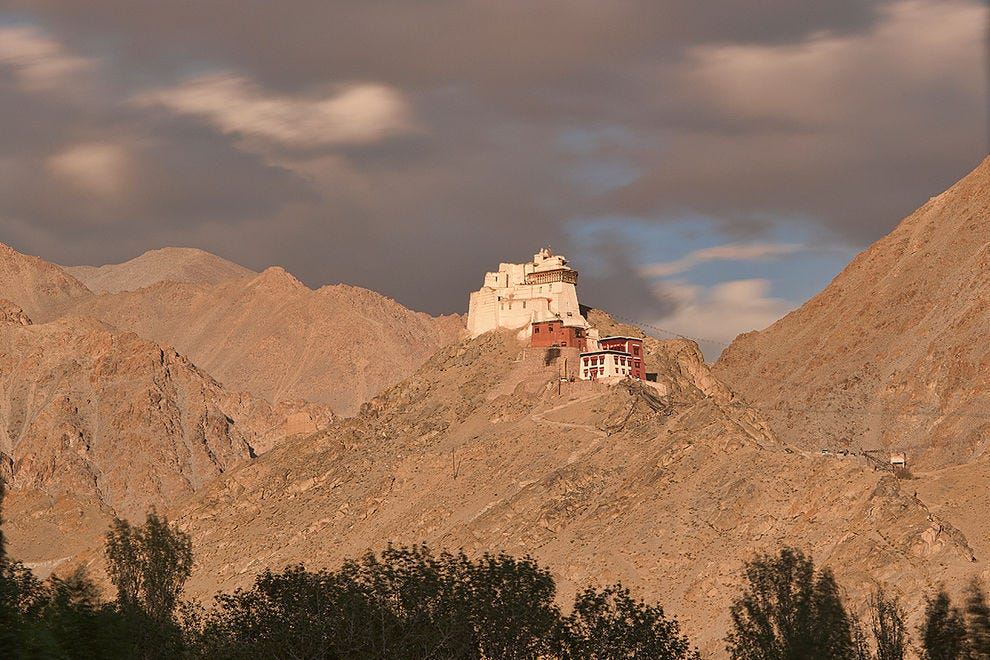 Namgyal Tsemo Monastery in beautiful light over Leh