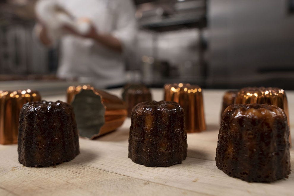 The caneles add a French accent to Afternoon Tea