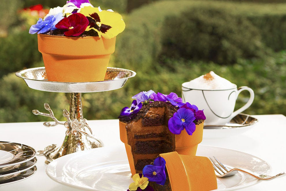 This edible flower pot at Jardin makes you truly appreciate the beauty of nature