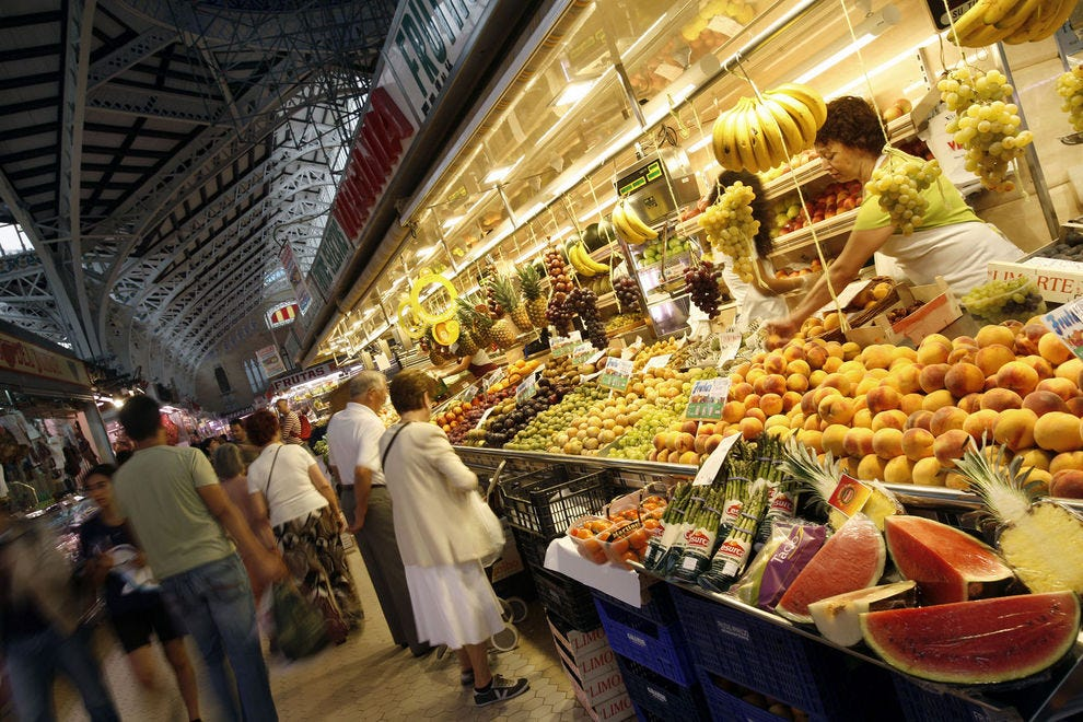 Central Market in the city of Valencia